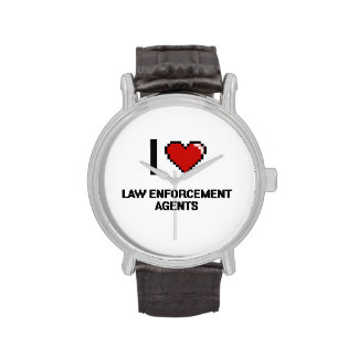 I love Law Enforcement Agents Wrist Watch