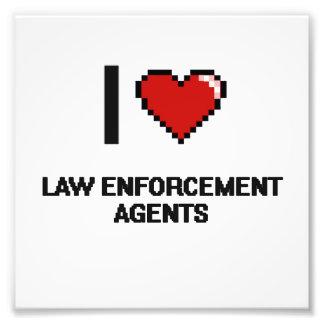 I love Law Enforcement Agents Photo Print