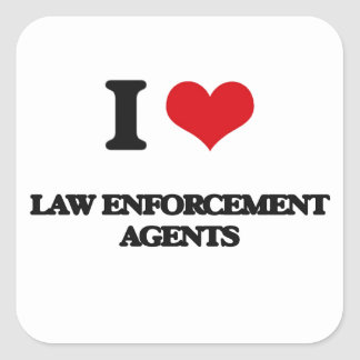 I love Law Enforcement Agents Stickers