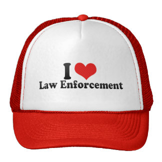 I Love Law Enforcement Mesh Hats