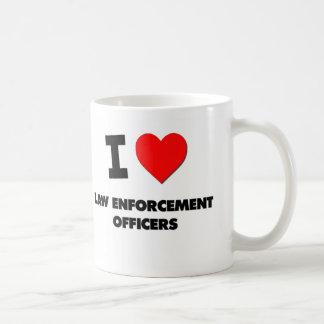I Love Law Enforcement Officers Basic White Mug