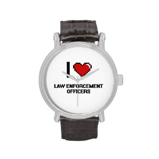 I love Law Enforcement Officers Wristwatches