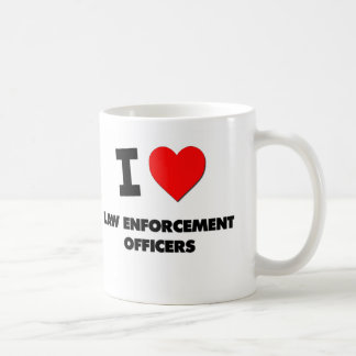 I Love Law Enforcement Officers Classic White Coffee Mug