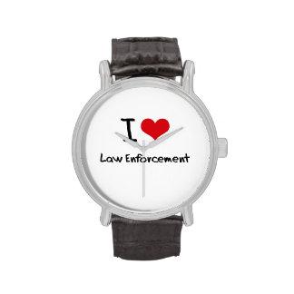 I love Law Enforcement Wrist Watch