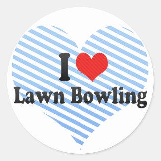 I Love Lawn Bowling Classic Round Sticker