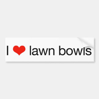 I love lawn bowls bumper sticker