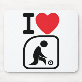 I love lawn bowls mouse pad