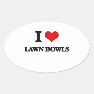 I Love Lawn Bowls Sticker