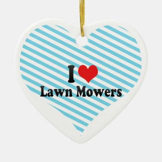 I Love Lawn Mowers Christmas Ornament