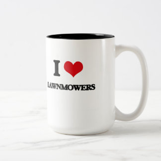 I Love Lawnmowers Two-Tone Mug