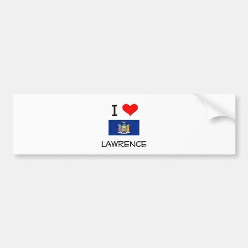 I Love Lawrence New York Bumper Sticker