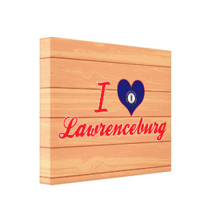 I Love Lawrenceburg, Kentucky Stretched Canvas Print