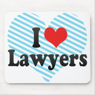 I Love Lawyers Mouse Pads