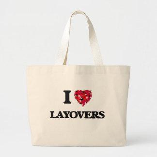 I Love Layovers Jumbo Tote Bag