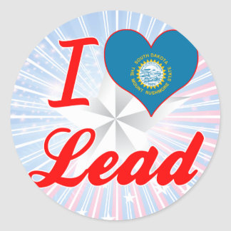 I Love Lead, South Dakota Round Stickers