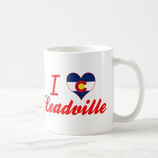 I Love Leadville, Colorado Basic White Mug