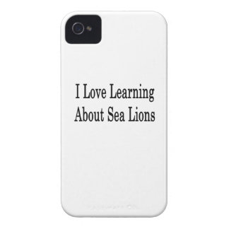 I Love Learning About Sea Lions iPhone 4 Case-Mate Case