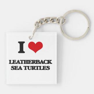 I love Leatherback Sea Turtles Key Chain