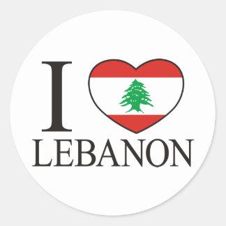I Love Lebanon Classic Round Sticker