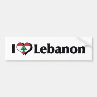I Love Lebanon Flag Bumper Sticker