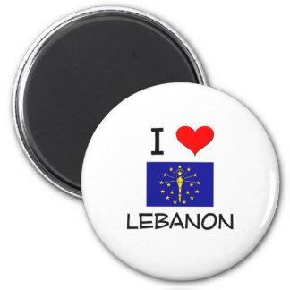 I Love LEBANON Indiana Magnet