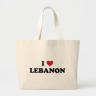 I Love Lebanon Large Tote Bag