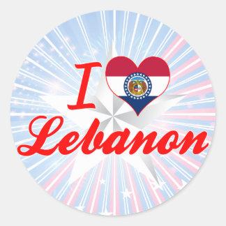 I Love Lebanon Missouri Round Sticker
