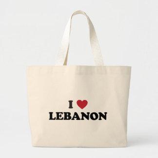 I Love Lebanon Jumbo Tote Bag