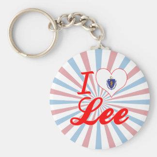 I Love Lee, Massachusetts Key Ring