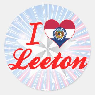 I Love Leeton, Missouri Sticker