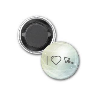 I Love Left Cursors 3 Cm Round Magnet