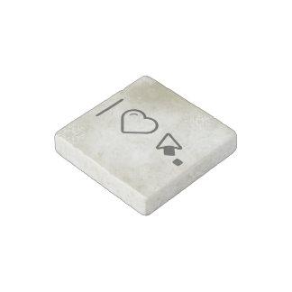I Love Left Cursors Stone Magnet