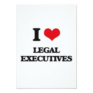 """I love Legal Executives 5"""" X 7"""" Invitation Card"""
