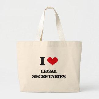 I love Legal Secretaries Canvas Bag
