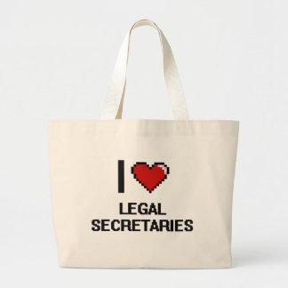 I love Legal Secretaries Jumbo Tote Bag