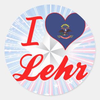 I Love Lehr, North Dakota Round Stickers