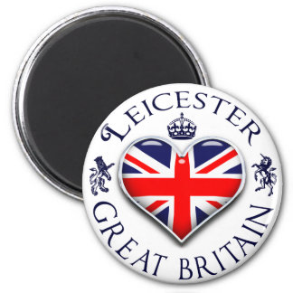 I Love Leicester 6 Cm Round Magnet