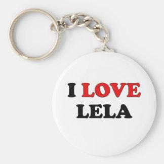 I Love Lela Basic Round Button Key Ring