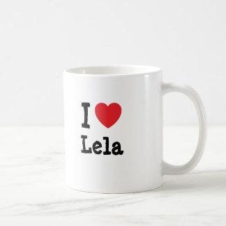 I love Lela heart T-Shirt Basic White Mug