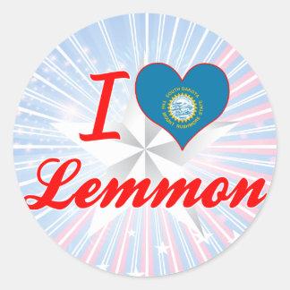 I Love Lemmon, South Dakota Round Stickers