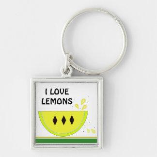I Love Lemons Key Chains