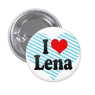 I love Lena 3 Cm Round Badge