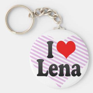 I love Lena Basic Round Button Key Ring
