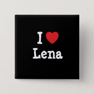I love Lena heart T-Shirt 15 Cm Square Badge