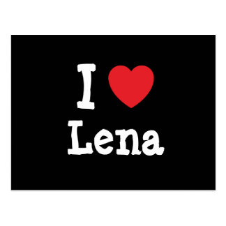 I love Lena heart T-Shirt Postcard