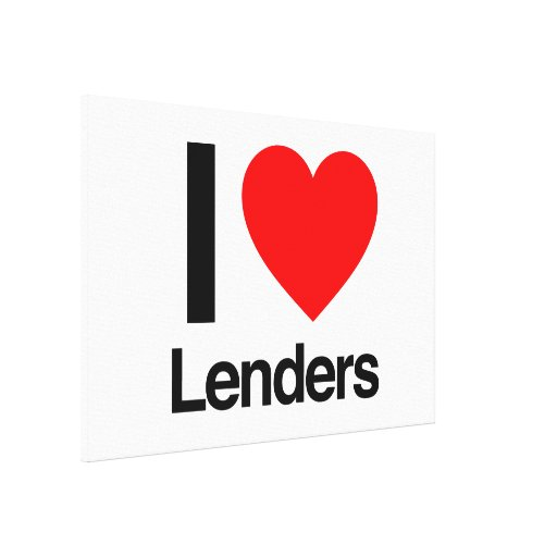 i love lenders gallery wrapped canvas