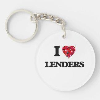 I Love Lenders Single-Sided Round Acrylic Key Ring