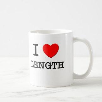 I Love Length Coffee Mugs