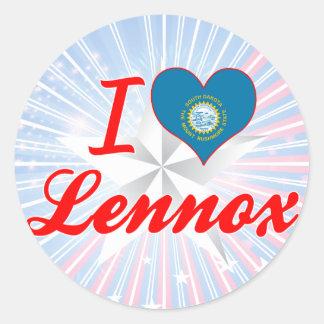 I Love Lennox, South Dakota Sticker
