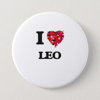 I Love Leo 7.5 Cm Round Badge
